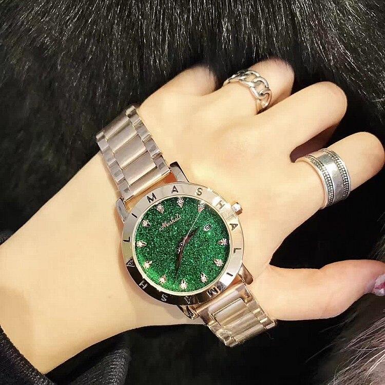 Mashali Diamond Rhinestone Rose Gold Bracelet Women Watch Fashion Woman Watches 2017 Brand Luxury Quartz-watch Ladies Wristwatch<br>