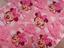 Free Shipping 50cm*150cm Minnie 100% Cotton Fabric for Sewing Patchwork Bedding Fabric DIY Baby Cloth Textiles  14121601