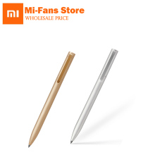 New Original Xiaomi Mijia Metal Sign Pen 9.5mm Signing Pen Gold/Silve PREMEC Smooth Switzerland Black Refill Switzerland Refill