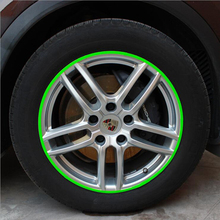 Real Sale Car sticker Color Change 16 Strip Car Motorcycle Wheel Tire DIY Refit Reflective Rim Sticker Styling Auto Accessories