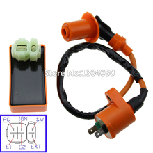 High Performance Ignition Coil CDI Box GY6 50cc 60cc 80cc 110cc 125cc 150cc 4-stroke Scooter Moped ATV Go Kart Pit Dirt Bike