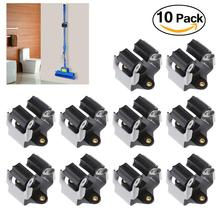 OUNONA 10pcs Broom Hanger Mop and Broom Holder Broom Organizer Grip Clips Wall Mounted Garden Storage Rack with Screws(China)
