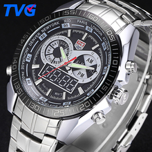 TVG Fashion Sports Watch Men Quartz Watches Men Waterproof Military Watches LED Digital Clock Male Wrist Watch Relogio Masculino