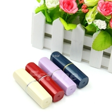 2017 Secret Lipstick Shaped Stash Medicine Pill Pills Box Holder Organizer Case Cosmetic containers package JUL7_35