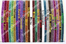 Sparkly Sports Glitter Elastic Headbands-Choice of 26 Colors fit from baby -Youngth Child even Adult 100pcs/lot