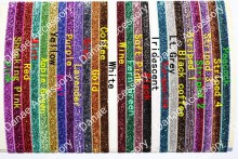 Sparkly Sports Glitter Elastic Headbands-Choice of 26 Colors fit from baby -Youngth Child even Adult 100pcs/lot(China)