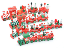 Christmas train toy kid lovely mini little wooden train toy for Children Christmas decoration ornament Educational toy Xmas gift