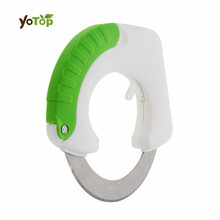 YOTOP Stainless Steel  Rolling Circular Knife  Kitchen Cutter Vegetable meat Chopper Kitchen Knife with Hanging Hook