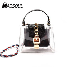 Ladsoul 2017 Vintage transparent bags women handbag fashion jelly bag shoulder bag crossbody bags female package messenger totes(China)