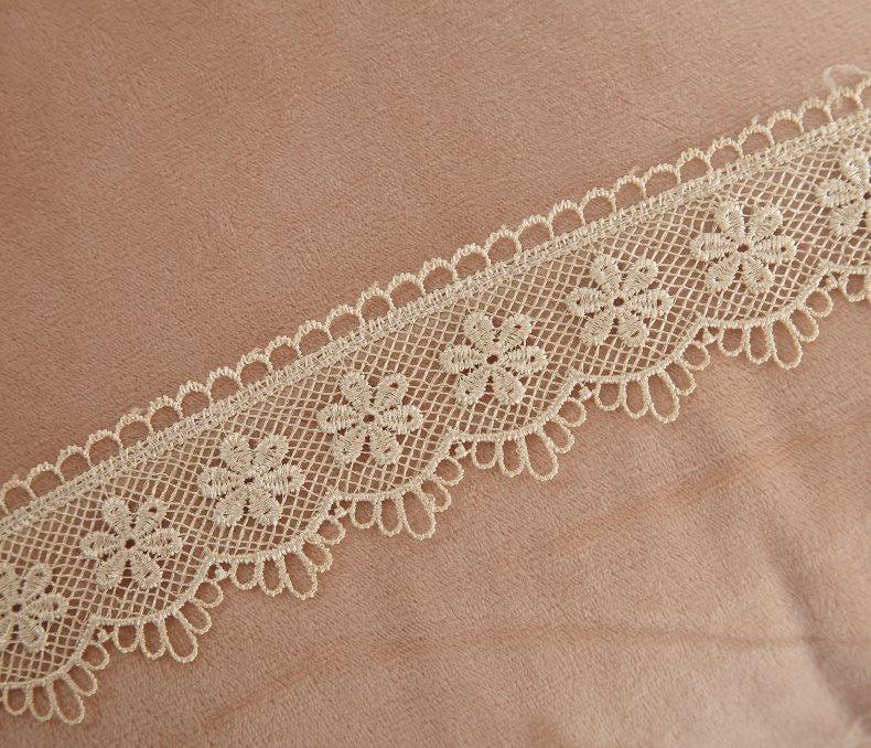 3Pcs Fleece Bed Skirt Set W/ Pillowcases, Mattress Protective Cover 51