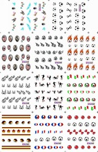 11 PACK/ LOT  WATER DECAL NAIL ART NAIL STICKER  FOOTBALL BABY NATIONAL FLAG BLE1643-1653