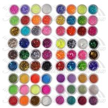 72 Colours UV Gel Acrylic Dust Glitter Powder Nail Art Tips Decoration Set Tool 3D Tips Decoration Manicure Nail Art Tools