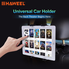 HAWEEL Universal Black Car Headrest Tablet Mount Holder for iPad Air iPad 4 iPad mini Samsung Galaxy Tab 7-11 inch Tablet PC(China)