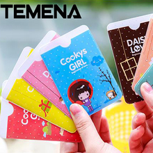 2016 NEW Min. (mix order) 2357 Korea stationery sweet girl mo-moi card case PVC bus card holder ACH201A(China)