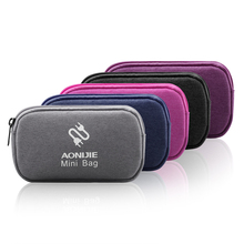 AONIJIE Earphone Cable Organizer Bag USB Flash Drives Case Digital Storage Pouch Travel Bag Power Bank Pocket Purse Swimming Bag(China)