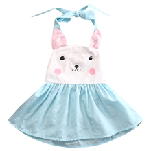 2017 Summer Toddler Baby Kids Girls Rabbit Dress Party Wedding Gown Fancy Dresses 1-5Y