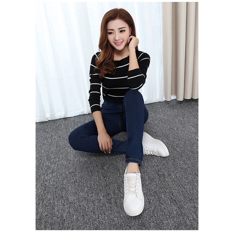 Full Length Mid Waist Jeans For Women 2017 New Fashion Autumn Leisure Style Women Jeans Dark Blue Loose Jeans  #P026Одежда и ак�е��уары<br><br><br>Aliexpress