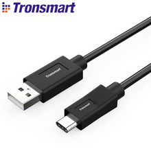 Tronsmart CC04 USB A Male to USB Type C Male Cable USB Type-C Cable 3.3ft/1m Black Color Fast Charging Data for USB-C Devices(China)