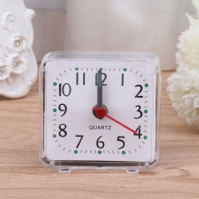 2017 New Mini Square Quartz Beep Alarm Clock Plastic Desk Table Travel Trip Portable reloj despertador