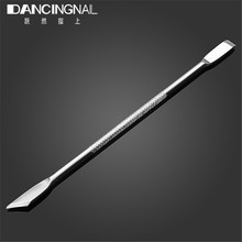 1pcs Nail Cuticle Remover Stick Finger Cuticula Dead Skin Cleaner Stainless Double Sided Spoon Pusher Manicure Art Tools