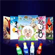 Free shipping 120pcs/lot projection finger lights new luminous colorful toys gifts for party wedding Christmas New Year(China)