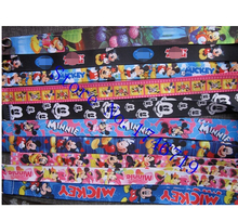 Mixed 10 Pcs Popular Cartoon Mickey Minnie  Lanyards Neck Strap Keys Camera ID Card Lanyard Mobile Phone Neck Straps S-09