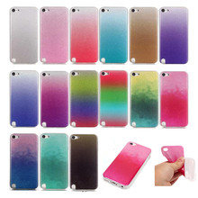 Fashion Crystal Glitter Bling Cover Case For Apple iPod Touch 5 6 Silicone Diamond Flash Powder Coque Gel iTouch 6 5 Back Cover