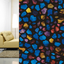 3D Painting Static Cling Window Film Stained Glass Paper Decorative Frosted Vinyl with Factory Price 92cmx50cm(China)