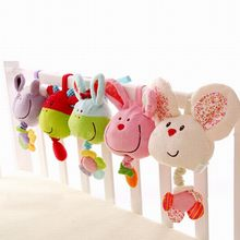 Cute Animal Baby Toys 0-12 Months Mobile Music Bell Soft Plush Toy Toddler Toys Bed Cart Hang Bell - BYC141 PT49