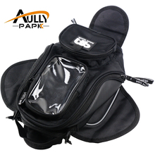New Black Oil Fuel Tank Bag Magnetic Motorcycle Motorbike Oil Fuel Tank Bag saddle Bag w/ Bigger Window Moto Accessory(China)