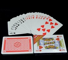 Paper Big size Poker cards 4 times larger size playing cards super big poker set 17x12cm funny cards games(China)