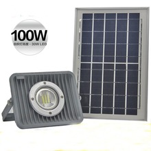 Solar Flood Light 50W 70W 100W Floodlight Billboard Outdoor LED Garden Roof Spotlight Square Parking