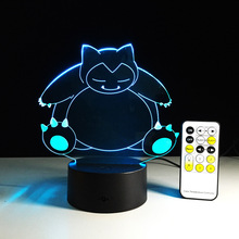 Creative Gifts pokemon Lamp 3D Night Light Robot USB Led Table Desk Lampara as Home Decor Bedroom Reading Nightlight(China)