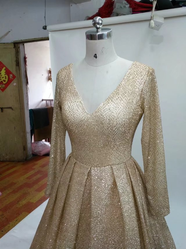 glitter gold wedding dress