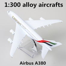 1:300 alloy aircrafts,high simulation Airbus A380 airliner models,diecast metal toy,children's educational toys,free shipping(China)