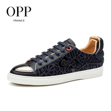 OPP Casual Sequins Shoes Natural Cow Leather Loafers New footwear 2017 Summer Mens Shoes Loafers Men Cow Leather Flats Shoes