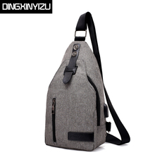 Buy DINGXINYIZU Oxford USB charging Men Chest Bags Man Single Shoulder Strap Back Bag Women Back Pack Travel Male Crossbody Bags for $12.22 in AliExpress store