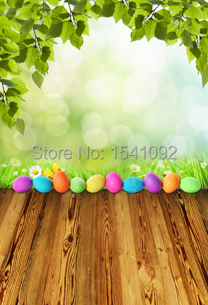1.5X2.2M Customize vinyl photography backdrop newborn easter wood computer print  background for photo studio F054<br><br>Aliexpress