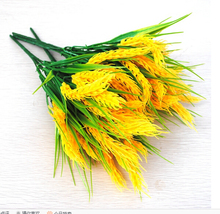 Free Shipping Artificial Plants Fake Wheat Flowers Silk plant Green grass European Home country decoration Garden Plants MA1946(China)