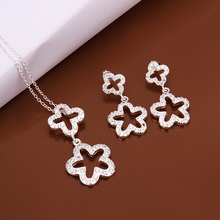 2015 new cross dating gift 925 sterling silver star and starfish pendant necklace earring jewelry woman Premier design S521(China)