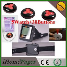 Chinese restaurant kitchen equipment waiter service call 5 Watch 30Buttons table call