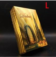 Statue of Liberty Style Waterproof Plastic Playing Cards Gold Foil Poker Golden Poker Cards Dubai 24K Plated Poker Table Games(China)
