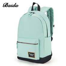 BAIDA Fashion Backpack Women Leisure Travel Rucksacks Girls Teenager Cool Contrast Color Preppy Style School Bag - Official Store store