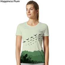 Bird T Shirt Forest T-shirt New Fashion Womens Short Sleeve 3d T-shirts Print Storm Sea Swallow Tee Summer top Tshirt Brand Sim(China)