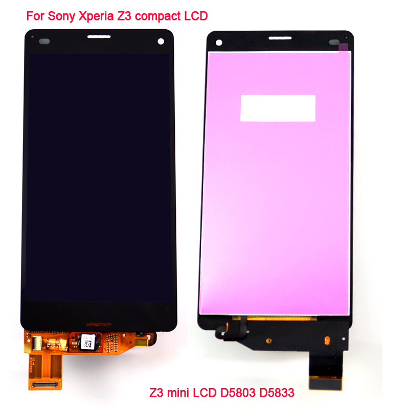 Black LCD Display Touch Screen with Digitizer Assembly for Sony Xperia Z3 Mini Compact D5803 D5833<br><br>Aliexpress