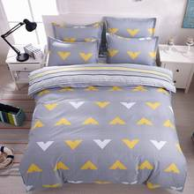 Winter desig Bedding Set Striped lattice quilt cover Duvet Cover flat Sheet pillowcase 3/4 pcs Home bedding Queen Full Twin Size(China)