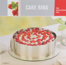 Retractable Stainless Steel Circle Mousse Ring Baking Tool Set Cake Mould  Size Adjustable Bakeware
