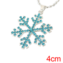 Hair Accessories Snow Blue Flower Necklace Hairpins Princess Hair Clip Barrette Cosplay Christmas for Women Girls Decoration(China)
