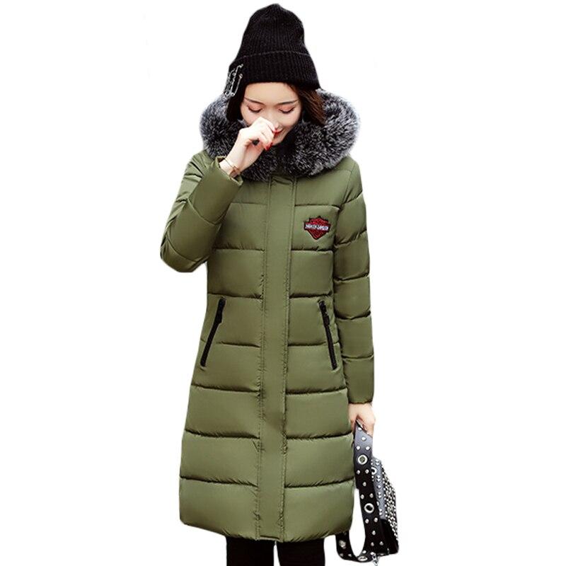 Womens Patch Designs Back Letter FashionPrint Quilted Padded Hooded Winter Coat Warm Fur Collar Parka Outwear Hot Sale XH711Îäåæäà è àêñåññóàðû<br><br>