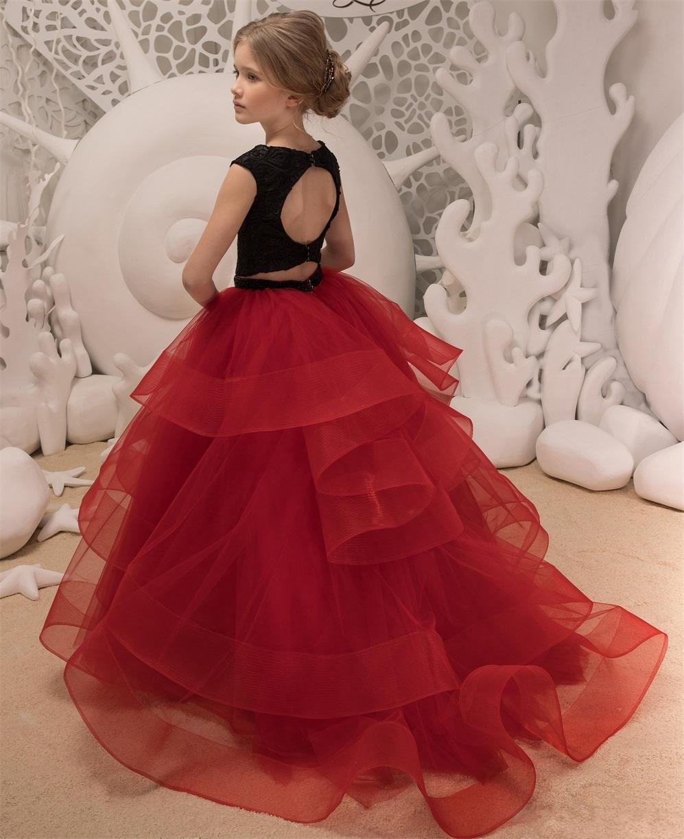 black-and-red-flower-girls-dresses-2018-ruffles (1)_conew1 -